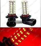 9145 red led fog light bulbs - 9005 LED Bulbs 68-SMD RED DRL Fog Lights (A Pair)