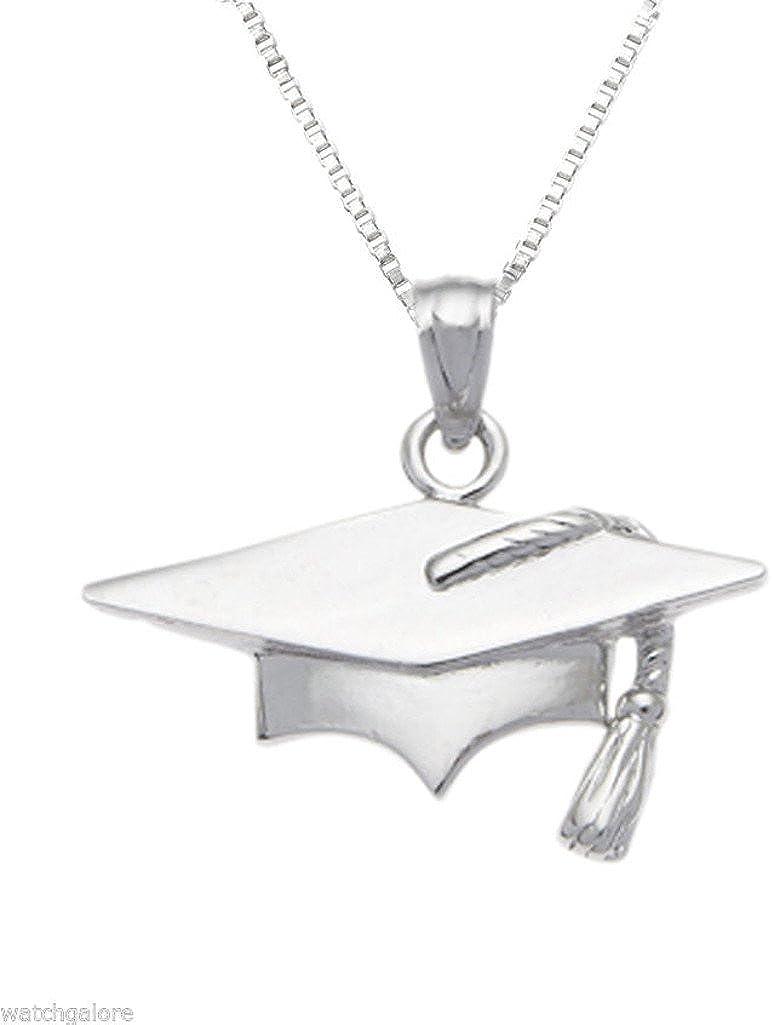 Sterling Silver Mortar Board Graduation Charm