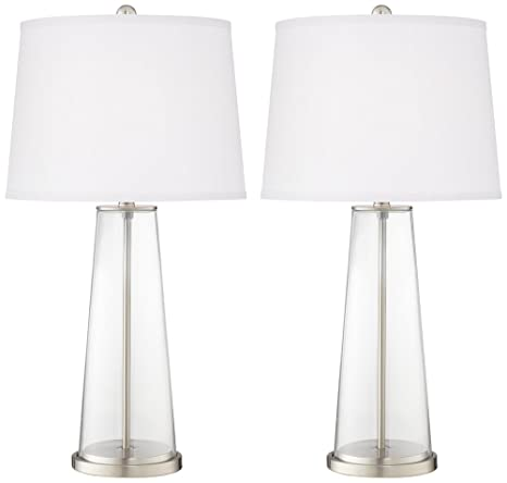 Clear Glass Fillable Leo Table Lamp Set Of 2 Amazon Com