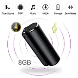 ElementDigital Voice Recorder Digital Audio Recorder 8GB Voice Activated with Mp3 Player One Button Recording & Save Non-Stop 1000h Recording Perfect for Monitor Speech Portable Concealed (8GB)