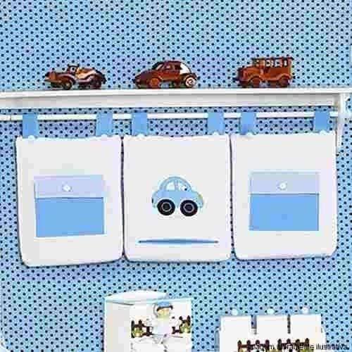Porta Fraldas Toys Azul 3 peças
