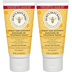 Burt's Bees Baby Bee 100% Natural Diaper Rash Ointment, 3 Ounce each, Pack of 2