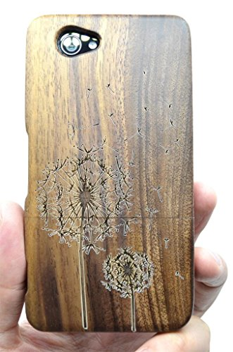 SONY Xperia Z1 Compact Wood Case - Walnut Dandelion - Premium Quality Natural Wooden Case for your Smartphone and Tablet - by VolksRose