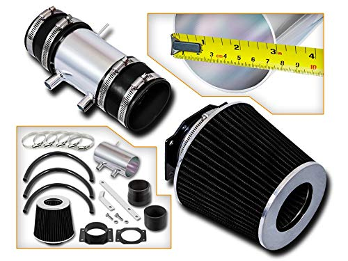 (Rtunes Racing Short Ram Air Intake Kit + Filter Combo BLACK Compatible For 99-04 Nissan Frontier/Xterra V6 & Supercharged ...)