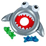 4E's Novelty Inflatable Shark Vinyl Bean Bag Toss Game for Kids – Great Luau Summer Beach Pool Party Favors
