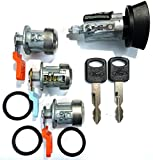 LC6177 Ford Ignition Switch Lock Cylinder + Three (3) Door Lock Cylinder W/2 Logo Keys