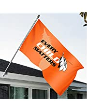 Orange Shirt Day Every Child Matters Flag 60×36 Inch House Flag-Wall Flag, Double Sided Indigenous Child Flag Decorative Garden Flag Courtyard Sign