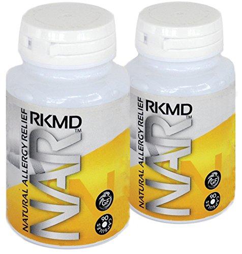 Alivio de alergia natural - 2 botellas (90 cápsulas cada uno)