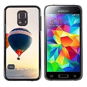 TaiTech / Prima Delgada SLIM Casa Carcasa Funda Case Bandera Cover Armor Shell PC / Aliminium - Globo aerostático - Samsung Galaxy S5 Mini, SM-G800