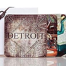 Set of 4 Taste of Detroit Hardboard Drink Coasters