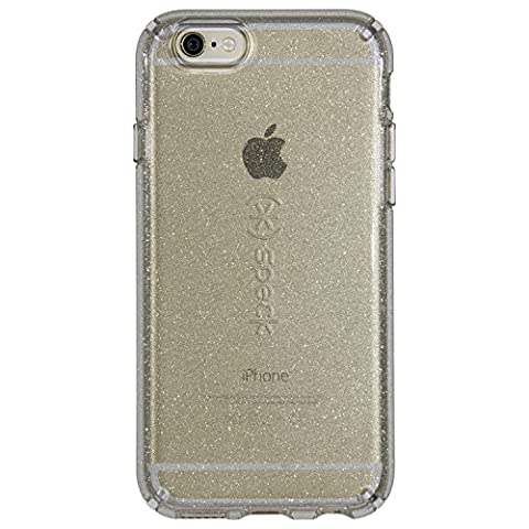 Speck Products Cell Phone Case for iPhone 6S/6 - Retail Packaging - Gold Glitter/Clear (Iphone 6 Speck Clear Case)