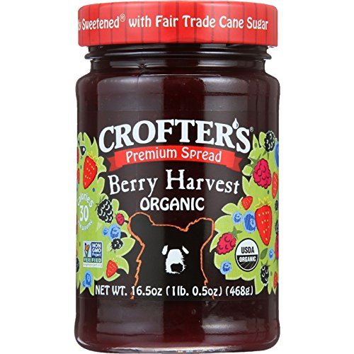 Crofters Strawberry - Crofters Organic Berry Harvest Premium Spread, 16.5 Ounce - 6 per case.