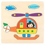 USHOT Dress Up & Pretend Play Toys, Wooden Puzzle Educational Developmental Baby Kids Training Toy