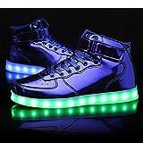 BeKing Kids High Top Light up Shoes LED Flashing
