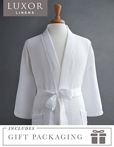Luxor Linens Waffle Weave Spa Bathrobe - Ciragan Collection - Luxurious, Super Soft, Plush & Lightweight - 100% Egyptian Cotton, Made in Turkey (Single Robe With Gift Packaging, No Monogram) by Luxor Linens (Image #10)