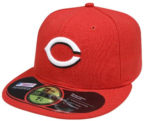MLB Cincinnati Reds Home AC On Field 59Fifty Fitted Cap-718