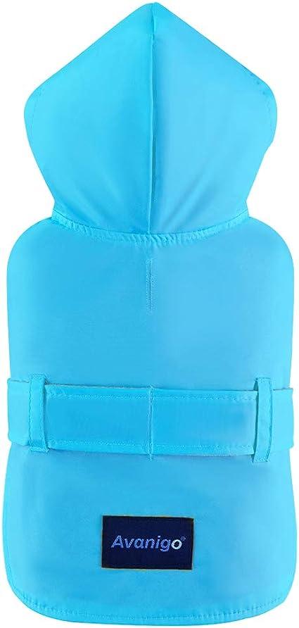 Dog Rain Jacket with Hood Stylish Premium Dog Raincoats Avanigo Dog Wear Yellow Dog Raincoat with Pockets Rain//Water Resistant
