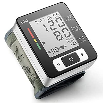 CK-W133-Blood Pressure Monitor, Portable Home Care Electronic Blood Pressure Watch with Wristband Automatic Wrist Electronic Blood Pressure Monitor Perfect for Health Monitoring