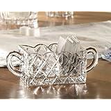 Fifth Avenue Crystal Muirfield Sugar/Tea Caddy Holder, Clear