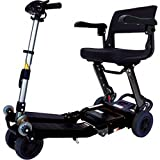 Free Rider USA - Luggie Standard - Compact Lightweight Foldable Scooter - 4-Wheel - Black
