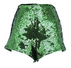 Green Sequins Short