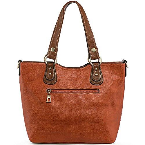 UTAKE Handbags for Women Top Handle Shoulder Bags PU Leather Tote Purse Meduim Size Orange by UTAKE (Image #5)