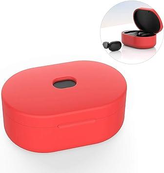 Funda de silicona para Xiaomi Redmi AirDots Estuche de carga, versión juvenil Dust-Guard Auriculares inalámbricos Piel protectora para accesorios de auriculares Bluetooth: Amazon.es: Electrónica