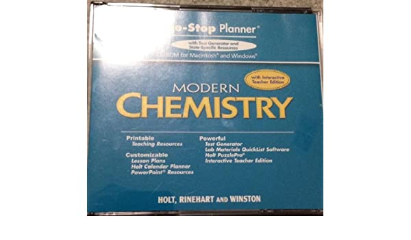 Amazon holt modern chemistry one stop planner cd rom with amazon holt modern chemistry one stop planner cd rom with examview test generator 9780030368134 rinehart and winston holt books fandeluxe Gallery