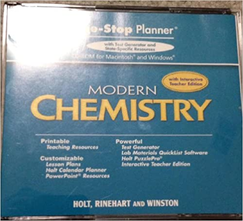 Amazon holt modern chemistry one stop planner cd rom with holt modern chemistry one stop planner cd rom with examview test generator 1st edition fandeluxe Gallery