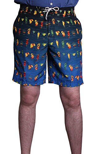 Tommy Bahama Mens Big & Tall Baja Happy 9 Board Shorts Hour Swim Trunks - Maritime (4XB, Maritime) by Tommy Bahama