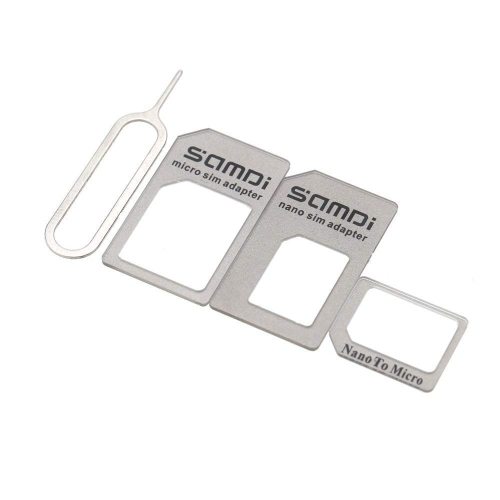 Samdi Sim Card Adapter Kit Includs Nano Sim Adapter / Micro Sim Adapter / Needle / Storage Sheet (Sim Card Holder)  ,Easy To Use And Storage Without ...