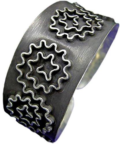 happylife-thai-karen-hill-tribe-98-dark-silver-handmade-zic-zac-flower-bangle-cuff