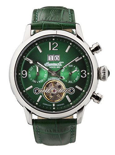 Ingersoll Men's IN1826GR Belle Star Analog Display Automatic Self Wind Green Watch