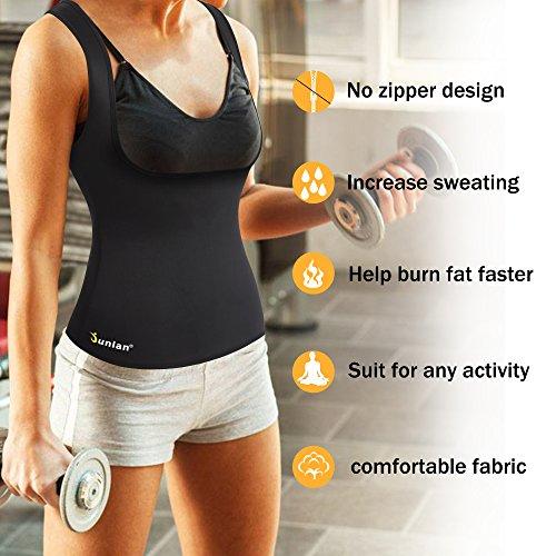 d01b389763b Junlan Neoprene Waist Trainer Vest for Women Corset Weight Loss Body Shaper  Cincher Sauna Sweat Tank