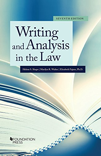 Writing and Analysis in the Law (Coursebook)