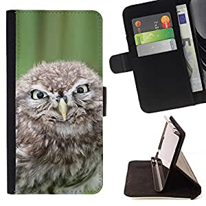 Momo Phone Case / Flip Funda de Cuero Case Cover - Malvada divertida del búho - Samsung Galaxy E5 E500