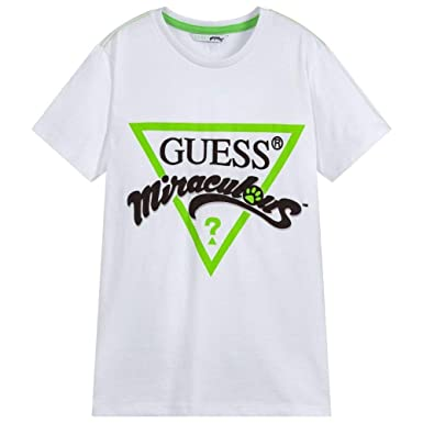 Guess T Shirt Manica Corta Bambina Nera