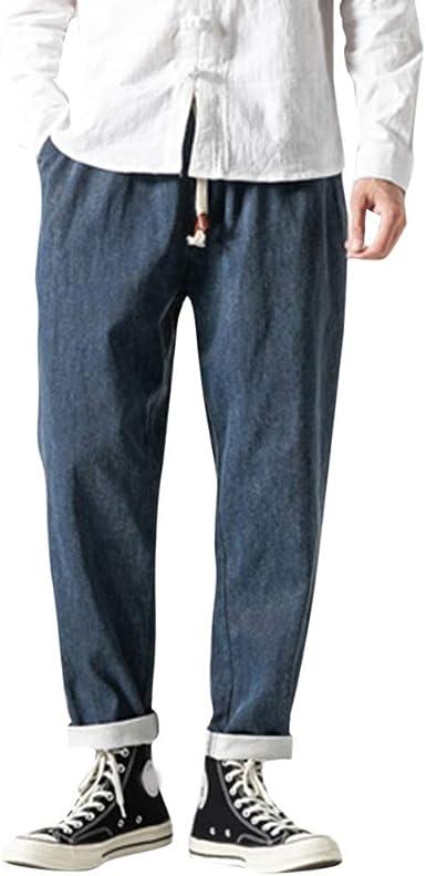 Zezkt Pantalones Vaqueros Para Hombre Pantalones Casuales Moda Jeans Sueltos Ocasionales Elasticos Pantalon Fitness Pants Largos Pantalones Pantalones Vaqueros Hombre Elasticos Amazon Es Ropa Y Accesorios