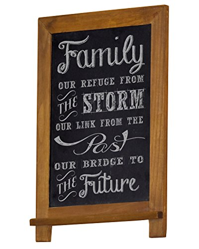 "kboard (16"" x 12"") Vertical Wall Mount Rustic Chalk Board for Wedding, Home, Kitchen, or Business use. Hand Made Slate Writing Surface (Cherry) (Genuine Slate)"