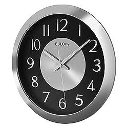 Bulova Music Streamer Bluetooth Enabled Wall Clock, Silver