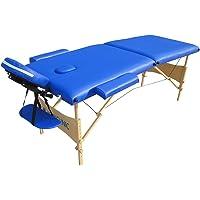 Camilla de masajes fisioterapia, Plegable, Madera y polipiel