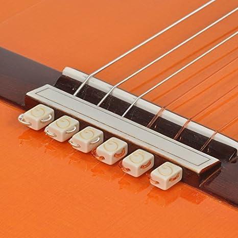 String-Tie para Guitarra Clásica (Blanco): Amazon.es: Instrumentos musicales
