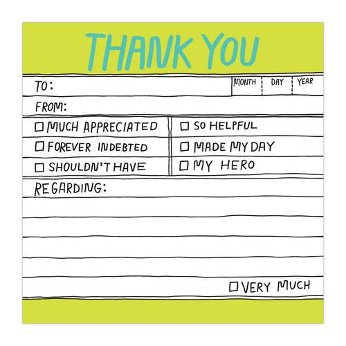 Knock Knock Hand-Lettered Thank You Sticky (Knock Knock Sticky Notes)