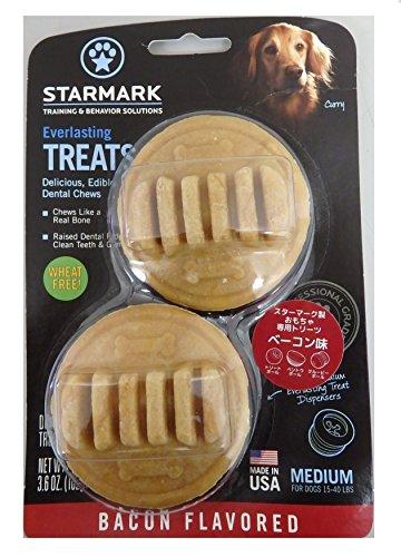 Star Mark Everlasting Bacon Dog Dental Chew, Medium, 3.6 oz