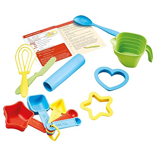 Whisk Cook Green (Green Toys Bake by Shape Role Play Set Toy, Assorted Colors)