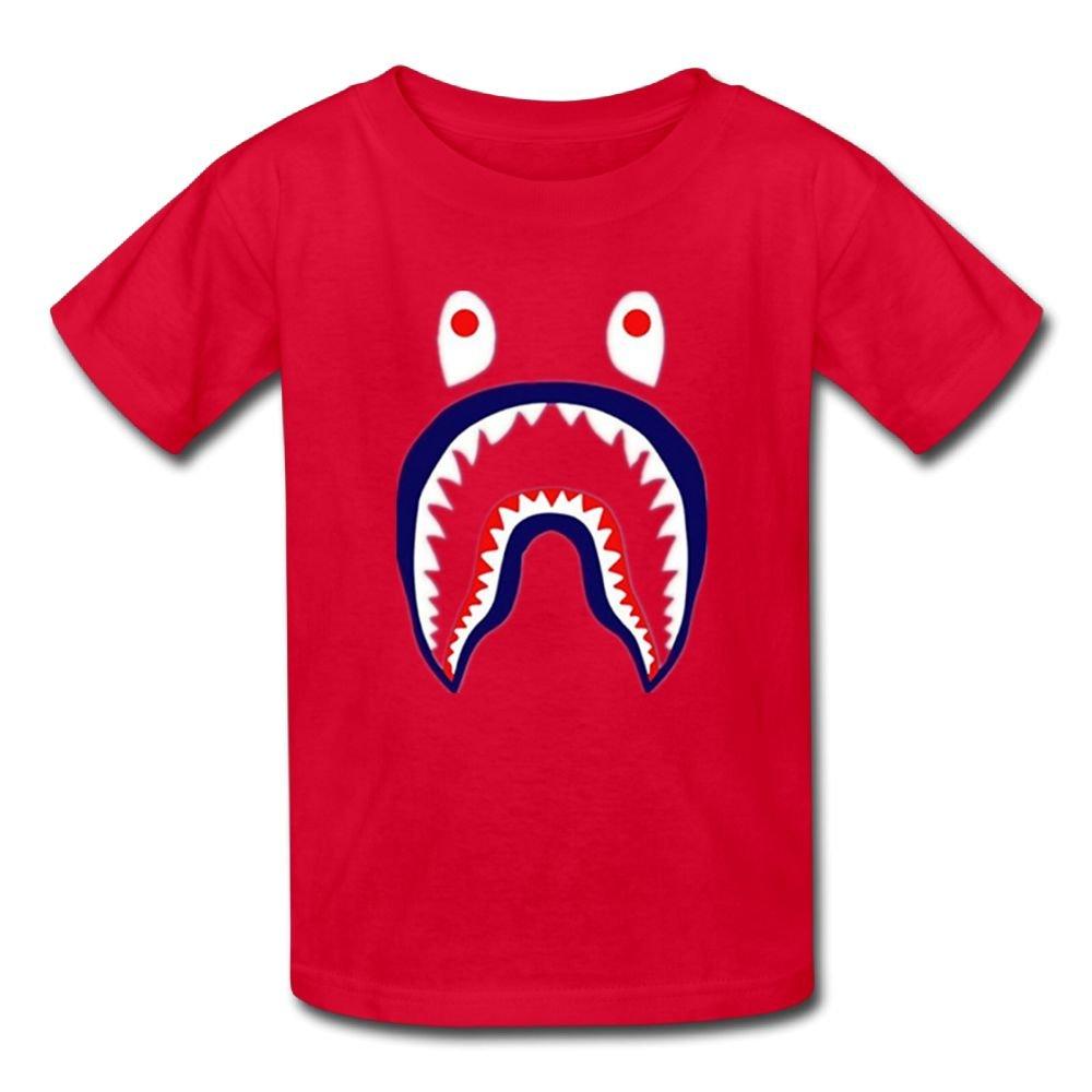 Special Bape Shark.PNG Cotton Boys Unique Novelty Funny T Shirt RoyalBlue