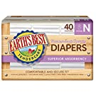 Earth's Best Chlorine-Free Diapers, Size N, 40 Count - Pack of 4