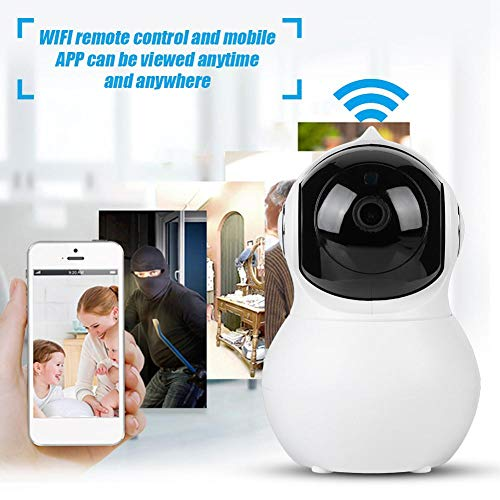 Acogedor Wireless HD 1080P Dome Cameras,Security Camera-WiFi Home Surveillance IP Camera for Baby/Elder/ Pet/Nanny Monitor-Infrared Night Vision WiFi Webcam-Baby Monitor Camera(White)