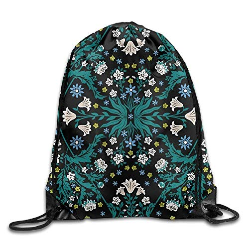 Mastexoru drawstring backpack Gym Bag Travel Backpack, Floral Pattern, Small Drawstring Backpacks For Teen Kids -
