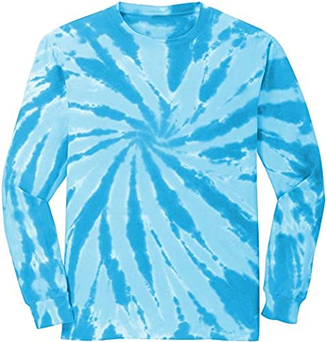 Koloa Surf (tm) Youth Colorful Long Sleeve Tie-Dye T-Shirt in Youth Sizes XS-XL - Boys Blue Tie Dye